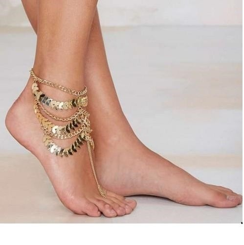 Women Anklets Boho Jewelry Vintage Gold