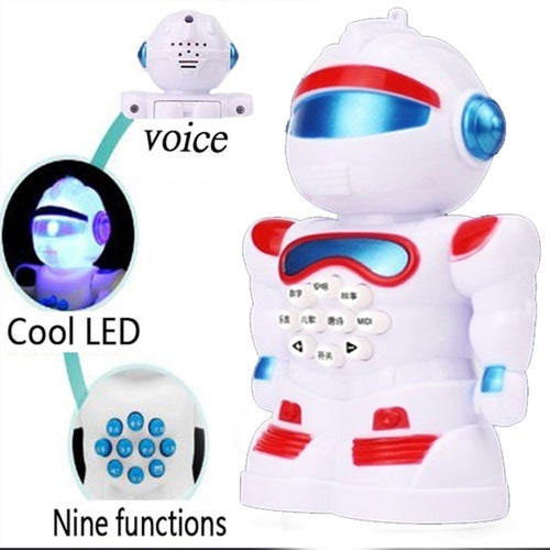 CN New LED Early education robot, intelligent early childhood music story, nursery rhyme robot, nine functions
