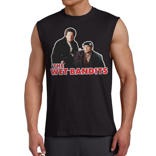 Home Alone The Wet Bandits Men's Black Sleeveless