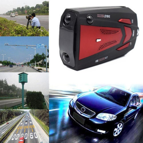 360 Degree Anti-Police GPS Speed Measuring Radar Detector With Voice Alert