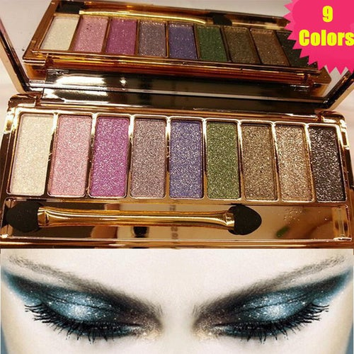 Professional 9 Colors Diamond Bright Colorful Makeup Eye Shadow