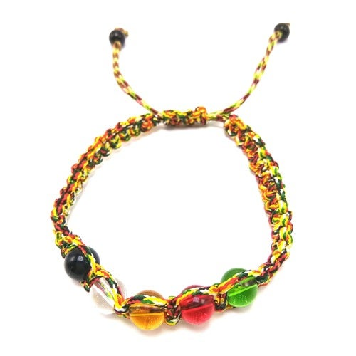The five line transport bead rope weaving colorful colored woven rope bracelet simple bead lucky talisman