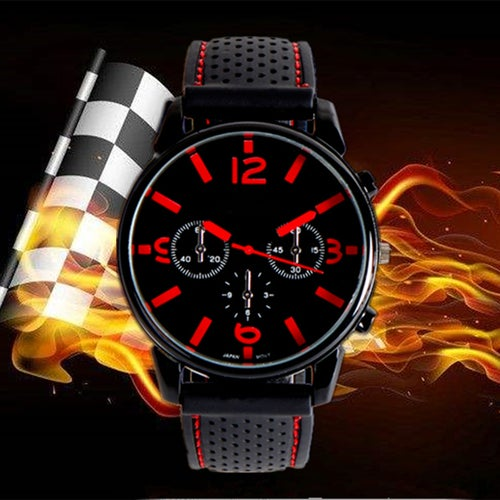 GT Grand Touring Sports Watch F1 Car Racing Style Military Sports Wristwatch