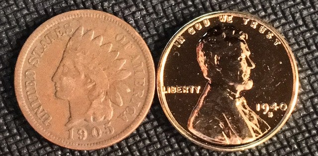 AUTHENTIC (1859-1909) Indian Head Cent AND an UNCIRC    | Tophatter