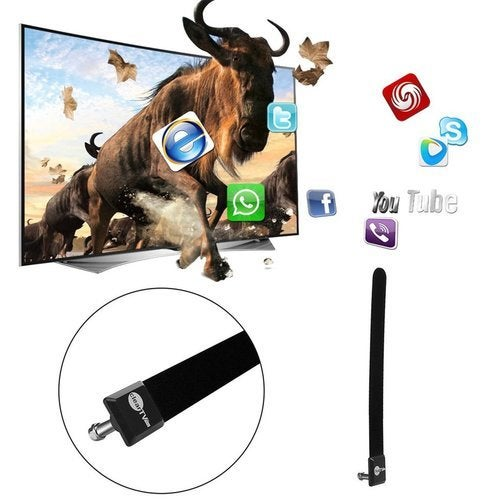 Hot TOP Clear TV Key HDTV FREE TV Digital Indoor Antenna Ditch Cable As Seen on TV)