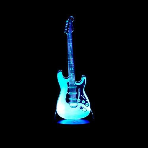 NEW ARRIVAL Music Cool Guitar Bass 3D LED LAMP NIGHT LIGHT for Musicians Home Decoration Student Birthday Christmas Present Gift