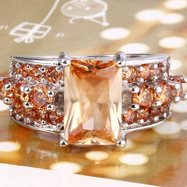 Gorgeous Morganite Sterling Silver 925 Ring