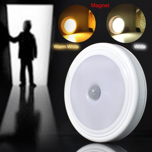 5 LED Auto Body Motion Sensor Detector Night Light PIR Infrared Magnet Lamp Home Bathroom Corridor Wireless Wall Lamp luminaria