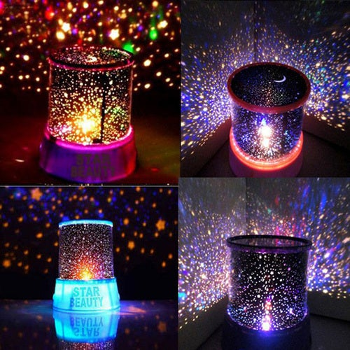 Amazing Flashing Colorful Sky Star Master Night Light Lovely Sky Starry Star Projector