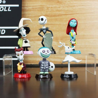 6Pcs/set Nightmare Before Christmas action figure toys Jack Skellington Sally