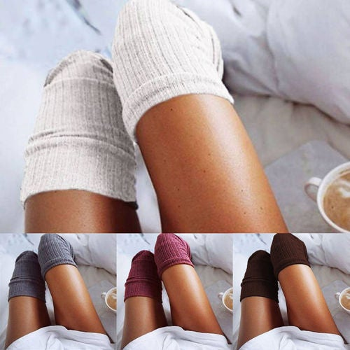 New Girls Ladies Women Thigh High Over the Knee Socks Long Cotton Stockings Warm