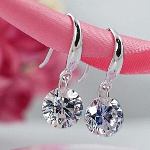 Stunning .925 Sterling Silver Loose Cz Earrings