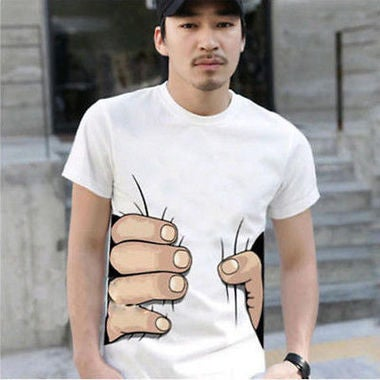 Men And Women Short Sleeve Hold The Waist T-shirt  Slim T-shirts