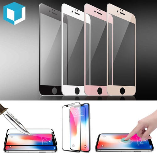 3D Tempered Glass Curved Full Cover Screen Protector for  iPhone X 8 7 6s 6 Plus 5S 5C 4S Many Colors