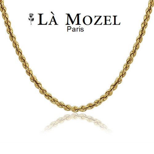 """Handcrafted from 10K Solid Yellow Gold Unisex Rope Chain - 16"""""""