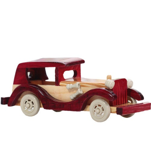 Retro Wooden Classic Car Model Children's Toys Home Solid Wood Puzzle Toy Cars Crafts Decoration Simulate Mini Automobiles Gift