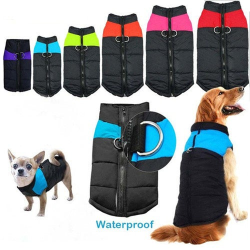 New Hot Dog Clothes Puppy Clothing Casual Waterproof Clothes Zipper Jacket Winter