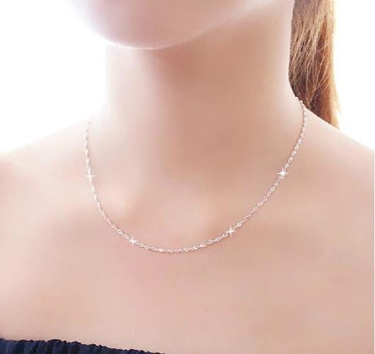 Korean version of the color retention coin necklace Korean chain clavicle chain necklace wholesale 2 yuan shop jewelry