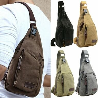 Hot Bid Men  Military Canvas Satchel Messenger Travel Backpack 5 Color