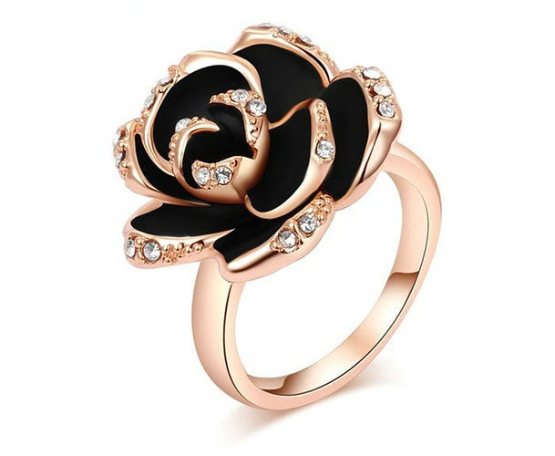 Rose Gold Plated Genuine Austrian Crystals Ring