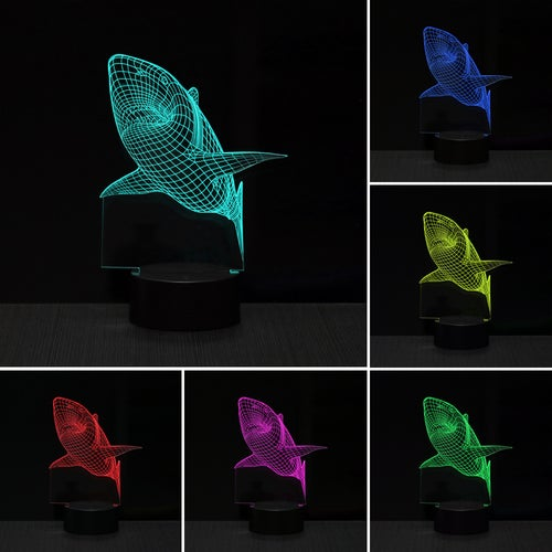 3D RGB LED Night Light Sensitive Touch Sensor USB Table Lamp LED Colorful Table Light Bedside Night Light