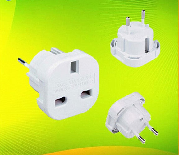 1Pcs Travel Charger Adapter Socket Outlet Converter General UK to EU AC Power Plug