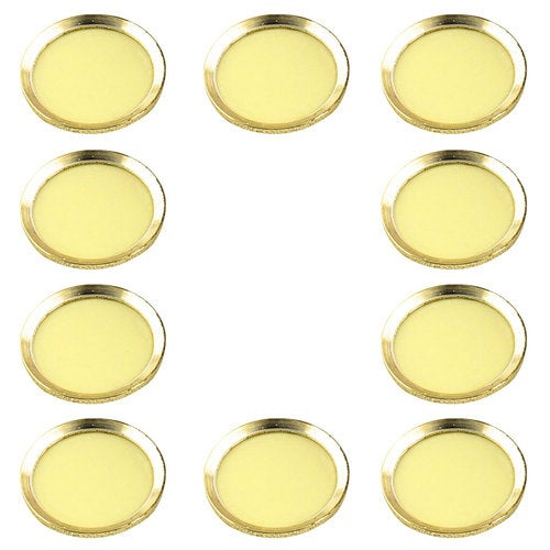 Metal Phone Home Button Sticker Ring Protector 10 PCS Yellow for iPhone