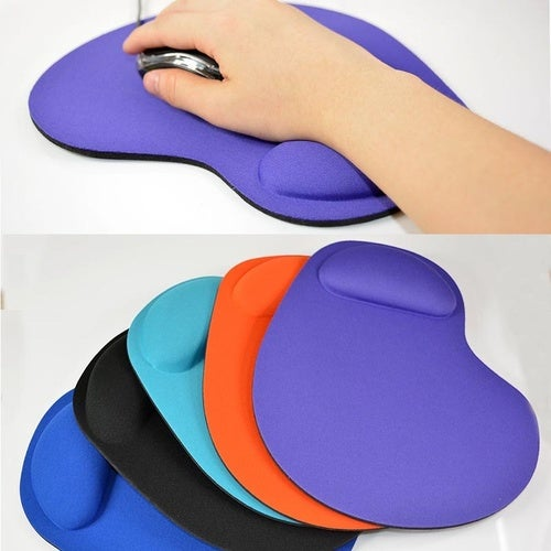 Silicone Soft Mouse Pad with Wrist Rest Support Mat for Gaming PC Laptop Mac Color: Multicolor