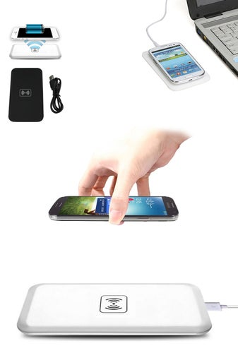 1Pcs NEW Wireless Charger Charging Pad +USB Cable For iPhone Galaxy etc