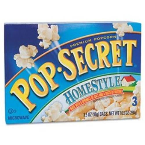 Diamond Foods 28781 Microwave Popcorn, Homestyle, 3.5 oz Bags, 10-CT