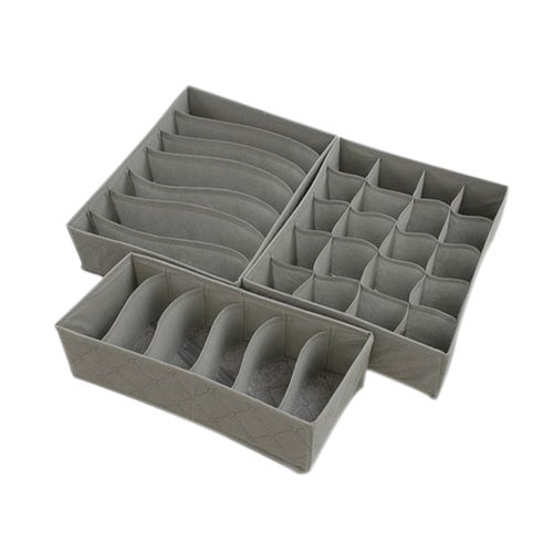 Multifunction Clear Home Products Bamboo-Charcoal Storage Box For Socks Bra Underwear