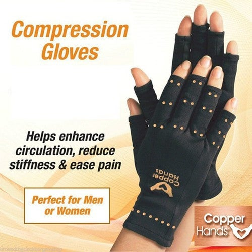 Recovery Copper Hands Arthritis Gloves Therapeutic Compression Men Woman Circulation Grip
