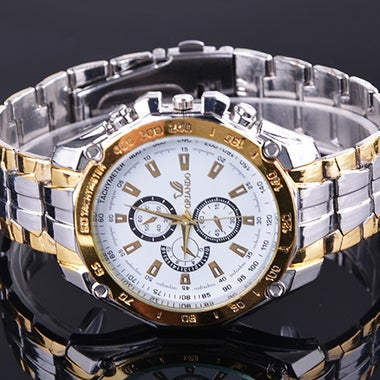 3 Colors Men's Quartz Analog Stainless Steel