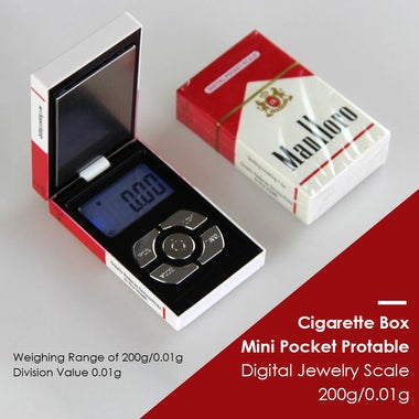 New Cigarette Box Mini Pocket Protable Digital Jewelry Scale 200g/0.01g