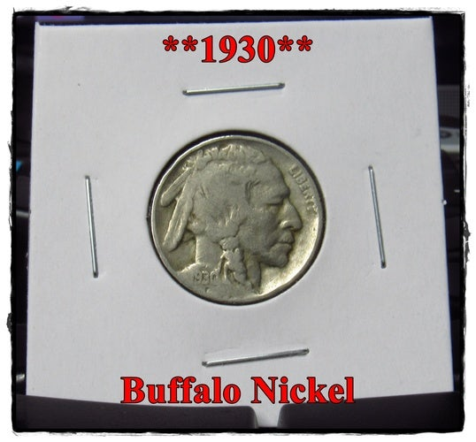 ★★★1930★★★ 88 Years Old ★★★ Buffalo Nickel  - Rare and Authentic - Full Date