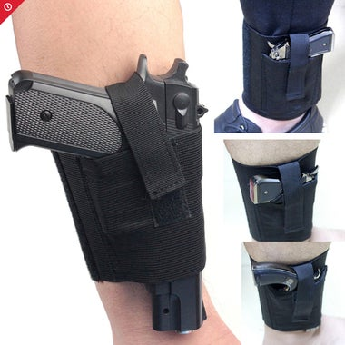 Tactical Padded Concealed Ankle Holster Strap Belt Ankle Leg Gun Holster Pouches