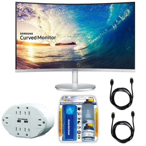 Samsung CF591 Series 27 LED Curved Monitor C27F591FDN with Accessories Bundle