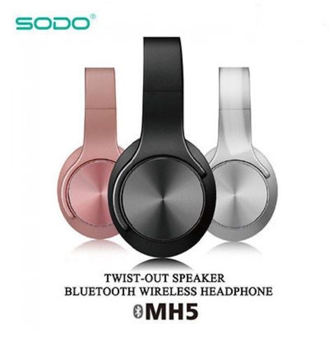 SODO MH5 NFC 2in1 Twist-out Speaker Bluetooth Headphone Sports Music Headset MH5