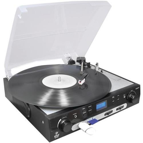 Pyle Home Plttb9u Usb Turntable With Direct-To-Digital Usb/sd(tm) Card Encoder
