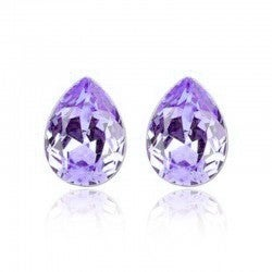 18kt White Gold Plated Water Tear Drop Crystal Earrings