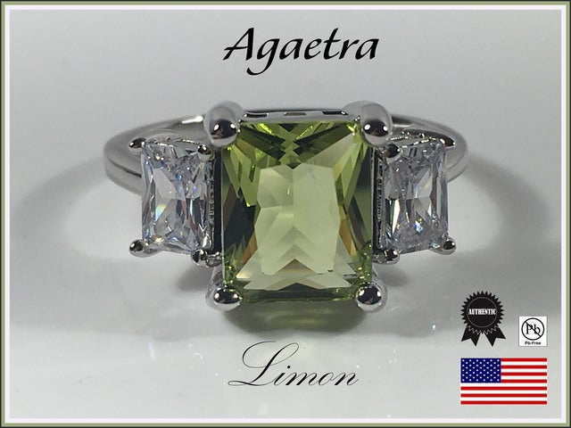 Agaetra Limon Ring. Silver Overlay. Size 7, 8 or 9 only.