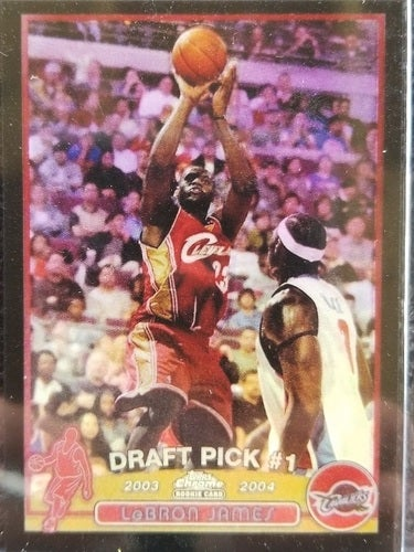 Lebron James Copy Rookie 200304 Topps Chrome Black Tophatter