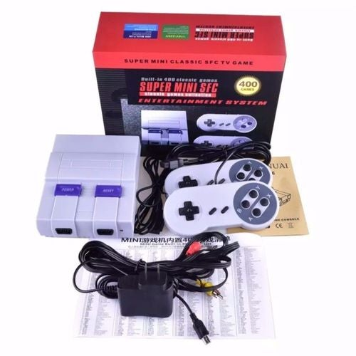 Super MINI Retro SFC Game CONSOLE TV Built-in 400 Classic Different Games Controller