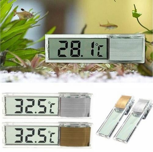 Plastic Metal Thermometer 3D Digital LCD Electronic Aquarium Thermometer Fish Tank Temp Meter Home Living Thermometer