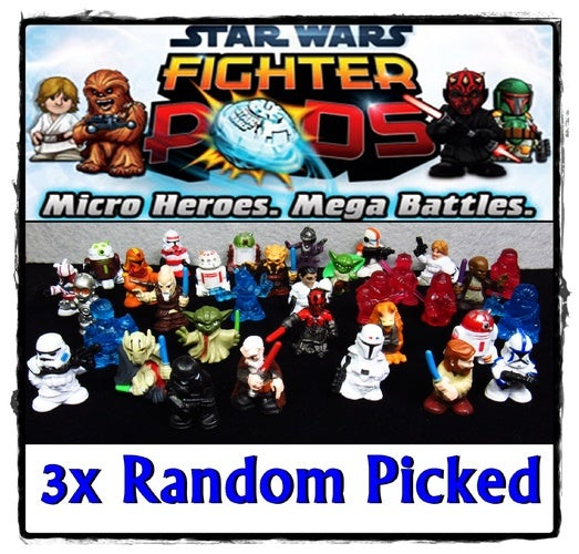 ~ 3x Random Picked ~ Star Wars Fighter Pods Rampage Micro Heroes - LOT of 3