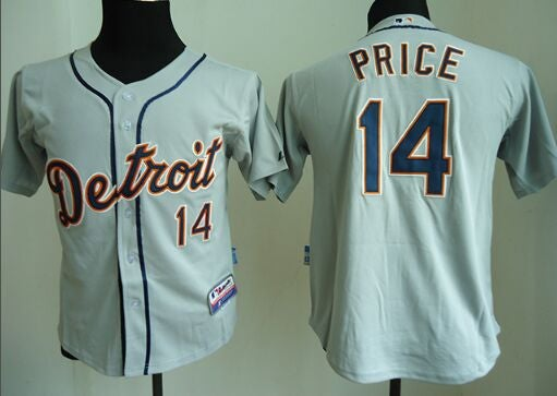 Youth Detroit Tigers grey #14 price Jersey