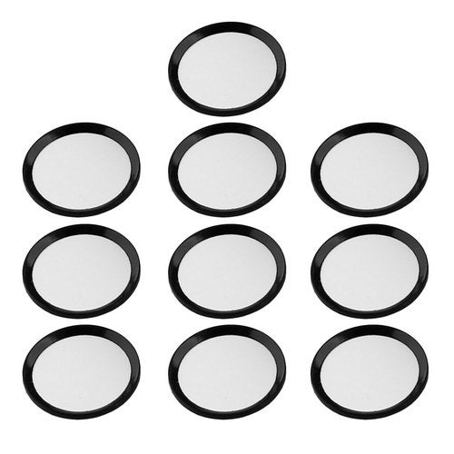 Metal Phone Home Button Sticker Ring Protector 10 PCS Black for iPhone