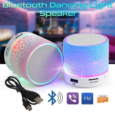 JRGK CRACK LED MINI Wireless Bluetooth Speaker TF USB Portable Music Sound Box S