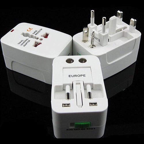 1Pc Universal AU/UK/US/EU Charger Adapter International Home Travel Power