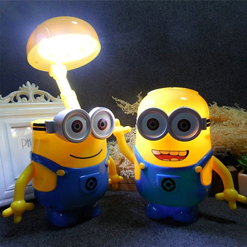 Hot LED Warm White Night Light Small yellow man Model Table Desk Lamp Home Decorative Gadget Lighting Bedroom piggy bank